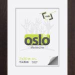 OSLO MasterLine Bilderrahmen A4 21×30 (exakt 21×29,7) Braun Holz Massiv (FSC Zertifiziert) Glas Urkundenrahmen Holzrahmen