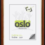 OSLO MasterLine Bilderrahmen A4 Exakt 21×29,7 Braun Schwarz Gold Holz Glas Zum Aufstellen Und Hängen Urkundenrahmen