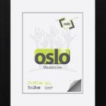 OSLO MasterLine Bilderrahmen 21×30 Din A4 Schwarz Holz Urkundenformat Mit Stabilem Aufsteller Hoch Querformat