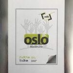 OSLO MasterLine Bilderrahmen 21 X 30 A4 Exakt 21×29,7 Graphit Silber Grau Dunkel Aluminium Zum Aufstellen Und Hängen Alu Echt Glas
