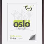 OSLO MasterLine Bilderrahmen A4 21×30 (exakt 21×29,7) Aluminium Stahl (dunkel Silber) Glas Zum Aufstellen Und Hängen Urkundenrahmen