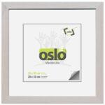 OSLO MasterLine Bilderrahmen 30 X 30 Quadratisch Weiß Gekalkt Shabby Holz (Maserung Sichtbar) Echt Glas Foto Rahmen