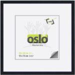 OSLO MasterLine Bilderrahmen 13×18 20 X 20 Schwarz Schwarze Schwarzer Aluminium, Schmal Zum Aufstellen Und Hängen Alurahmenmit Echtglas