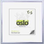 OSLO MasterLine Bilderrahmen 13 X18 20 X 20 Silber Glänzend Shiny Silbern Silberne Silberner Aluminium, Schmal Zum Aufstellen Und Hängen Alurahmenmit Echtglas