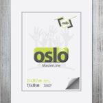 OSLO MasterLine Bilderrahmen 21 X 30 Siber Silbern Silberne Marmoriert Holz Massiv, Zum Aufhängen Und Stellen Fotorahmen Mit Echtglas