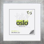 OSLO MasterLine Bilderrahmen 30 X 30 Quadratisch Silber Holz (Maserung Sichtbar) Echt Glas Foto Rahmen
