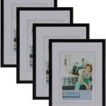 Bilderrahmen 10 X 15 Kunststoff Schwarz 4er Set Zum Aufstellen Und Hängen Für Fotos Bilder Portraitfotos Hoch Querformat