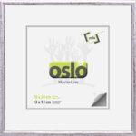 OSLO MasterLine Bilderrahmen 13×1820 X 20 15 X 15 Silber Marmoeriert Holz Massiv, Zum Aufhängen Und Stellen Fotorahmen Mit Echtglas
