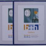 MDFN 40×50 Blau Metalic 2er Neu
